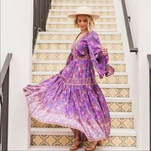 Boho Chic Floral Print Maxi Dress